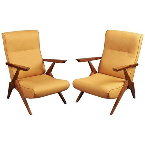 Reclining Armchairs by Pair Of Italy 1950s Reclining Armchairs For Sale At 1stdibs