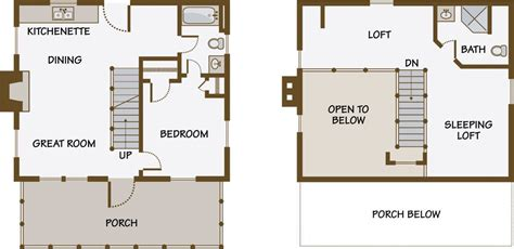 small guest house floor plans guest house plans with loft i like this one because you don t to walk through a bedroom to