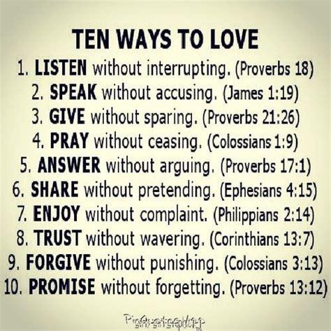 10 ways to love bible ten ways to love inspire me pinterest