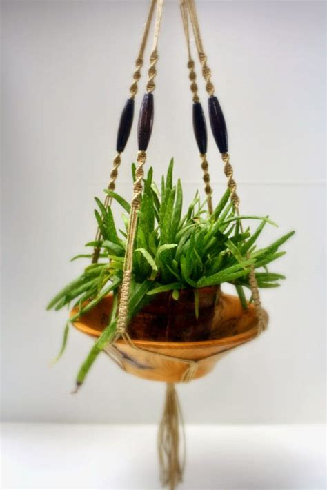 Macrame Plant Holder Diy - modern macrame plant hanger hemp hanging basket