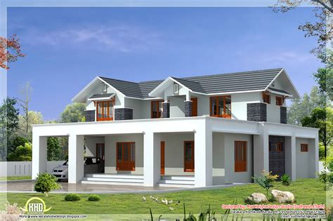 kerala home design flat roof elevation flat and sloping roof mix house elevation in 2500 sq feet