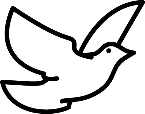 Small Dove Outline by Dove Outline Clip At Clker Vector Clip Royalty Free Domain