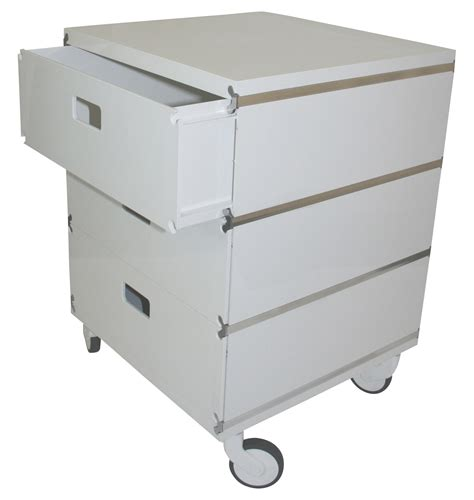 Drawers On Wheels plus unit mobile container 3 drawers on wheels white