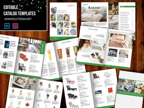 Product Catalog Id07 Stationery Templates Creative Market Catalog Template Photoshop