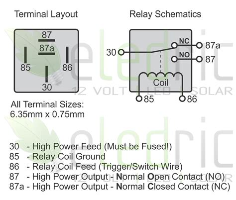 narva 5 pin relay wiring diagram get free image about
