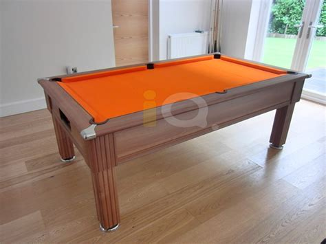 orange pool table cloth iq install slimline pool table walnut finish orange cloth
