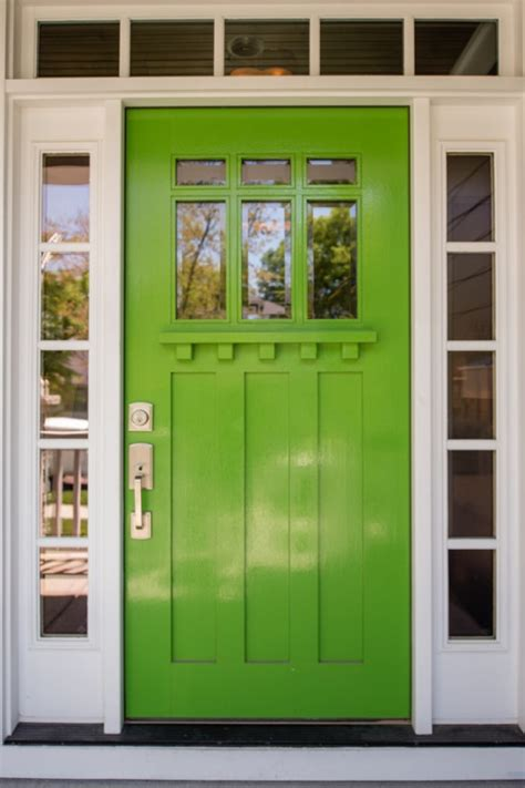 green front door bright green doors front door freak