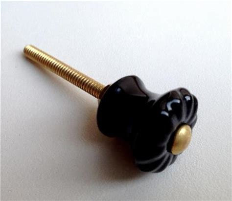 Small Ceramic Drawer Knobs by Small Black Porcelain Cabinet Knobs Mini Drawer Pulls 7 8