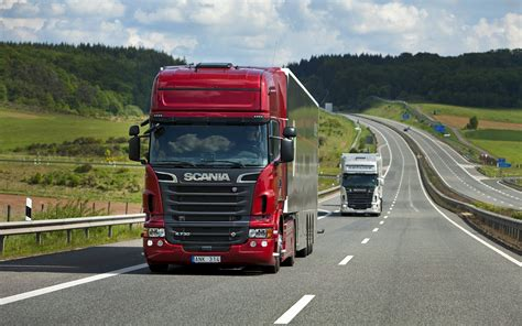 volvo highway trucks scania trucks on the highway hd wallpaper download