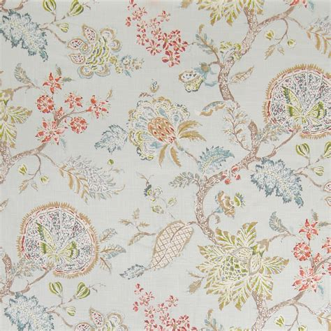 blue floral upholstery fabric blue citrine blue floral linen upholstery fabric