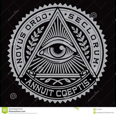 all seeing eye vector stock vector illustration of church