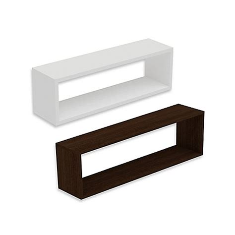 Rectangle Wall Shelf | manhattan comfort tichla rectangle 1 0 floating wall shelf