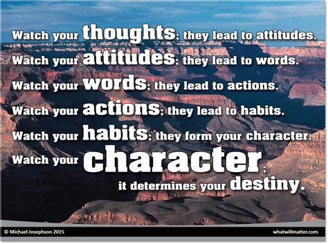 character counts greatest quotes  character reputation  character education
