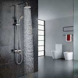 Contemporary Shower Faucets Chrome Finish Contemporary Shower Faucet With Handheld And