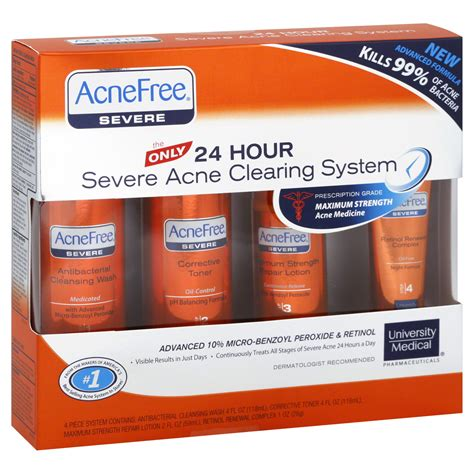 24 Hour System Detox by Acnefree Severe Acne Clearing System 24 Hour Maximum