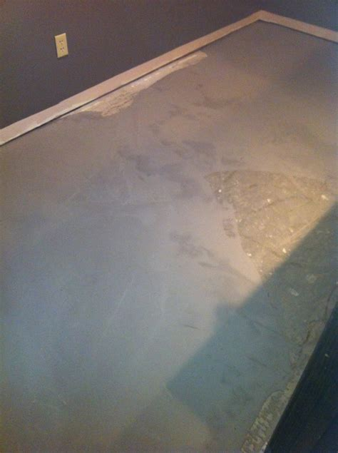 Self Leveling Cement Applied   Columbia Missouri Bathroom