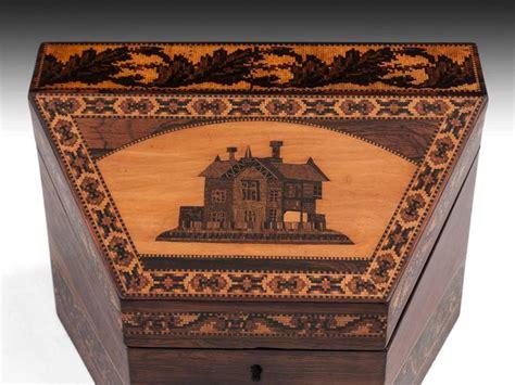 Bon Bon Box Fancy Stationery Box tunbridge ware stationery box for sale at 1stdibs