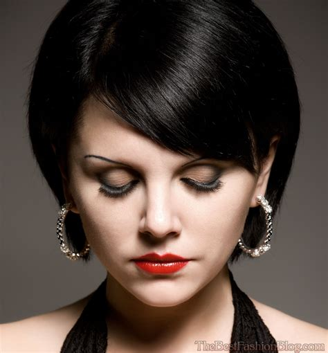 hairstyles modern bob another angled bob haircut with bangs pictures clues the