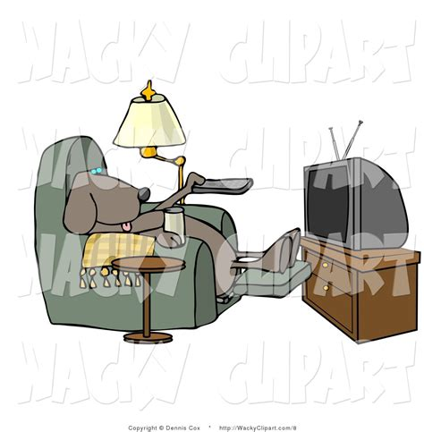 couch potato tv show dog watching tv clipart 17