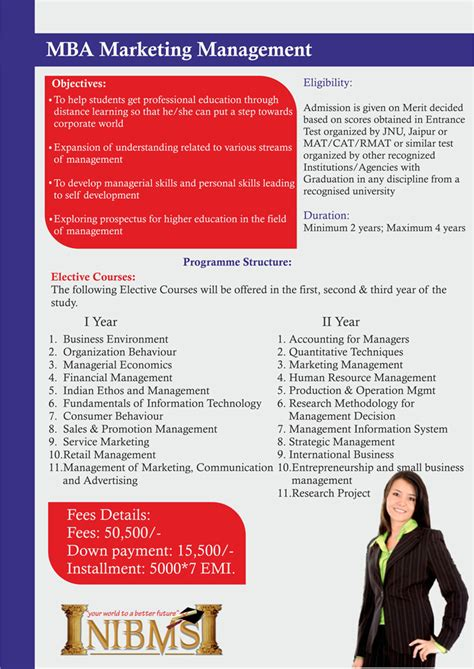 Mba Marketing Management by Welcome To N I B M S