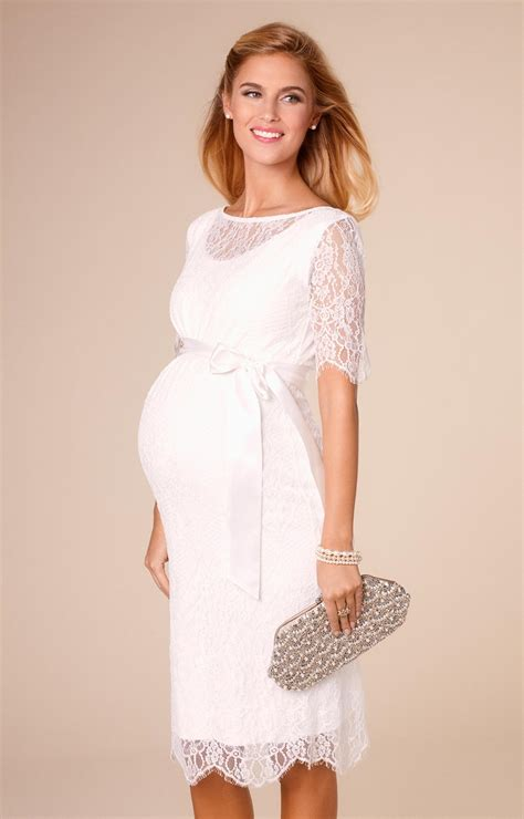 Starla Dress by Starla Maternity Wedding Dress Ivory Maternity