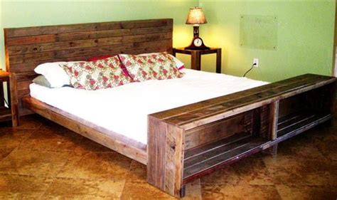 diy platform pallet bed plan  storage  pallets