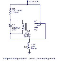 simplest l flasher circuit electronic circuits and
