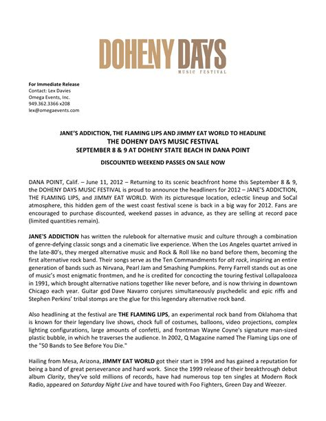dashlane in the press articles and press releases press releases doheny days music festival