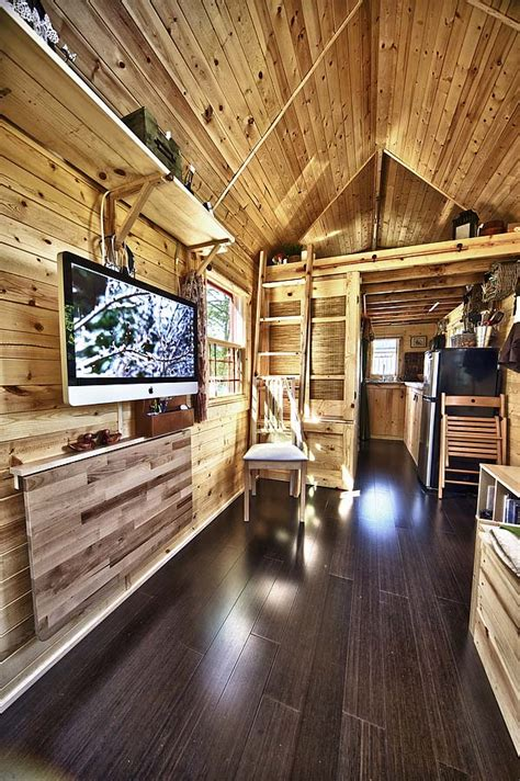 tiny house living room tiny tack house