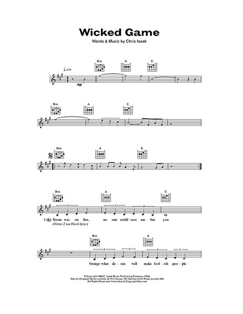 Wicked Game Guitar Chords