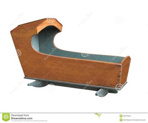 vintage baby crib isolated royalty free stock photo