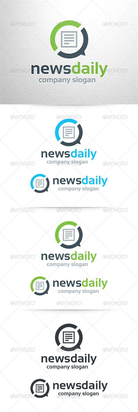 news logo template logo template graphicriver news daily logo template