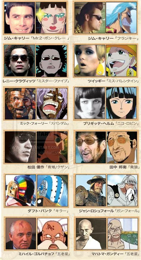 scopriamo  vip che hanno ispirato  personaggi   piece animeclick