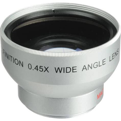 wide angle digital digital concepts 0 45x wide angle lens 30mm silver