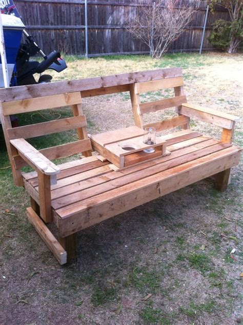 swing drop down bench swing with drop down center console drink holder