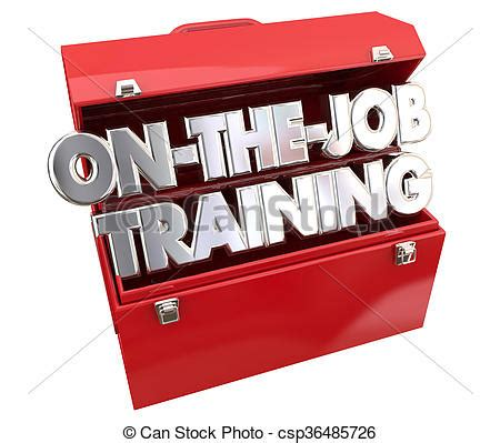 job training clipart on the job training tools toolbox drawing instant
