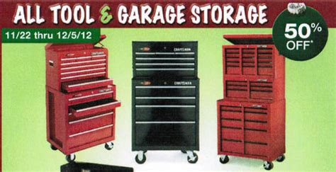 Garage Organization Black Friday Tool Garage Storage Entire Stock At Sears Featured 2012