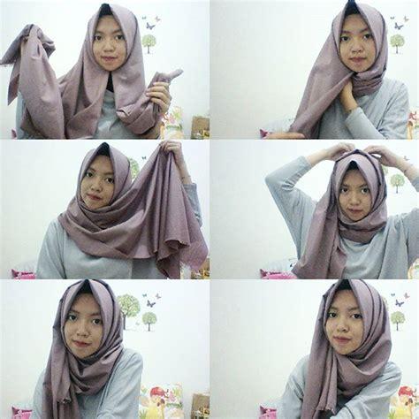 memakai pashmina simple  ciput hijabyukcom