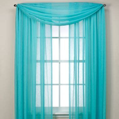 turquoise curtain scarf crushed voile sheer scarf valance