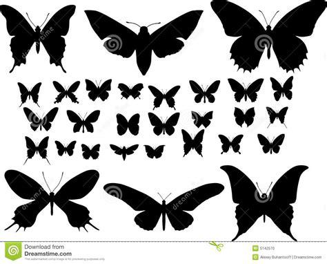 imagenes de mariposas siluetas siluetas de mariposas ilustraci 243 n del vector imagen de