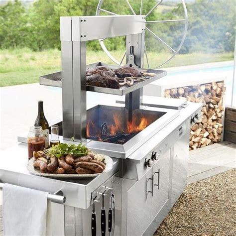 kalamazoo gaucho wood fired freestanding grill  side