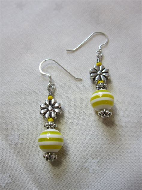 Handmade Earrings With - handmade earrings beaded earrings dangling earrings