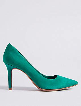 Green Heeled Moccasins From Marks Spencer by High Heels High Heels M S