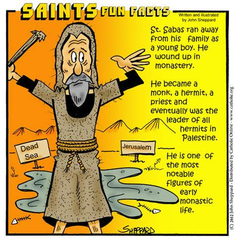 St Silly saints facts st sabas saints catholic