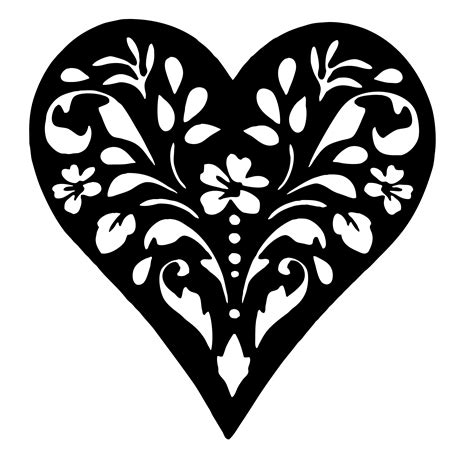 Free Printable Heart Templates Diy 100 Ideas Stencil Template