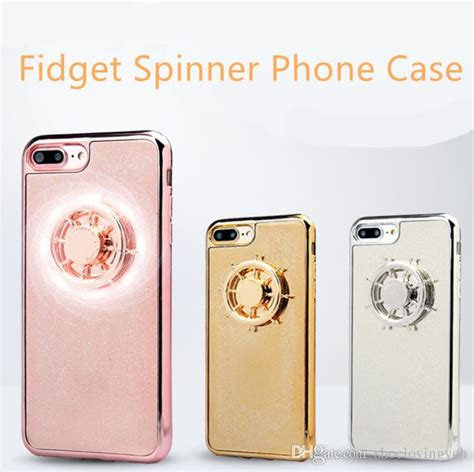 Fidget Spinner For Iphone 7 Hitam new arrivals magic fidget spinner phone gyro tpu soft phone shell for iphone 6 iphone7