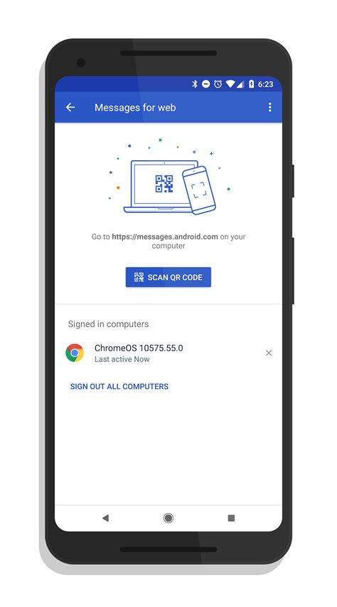 android qr scanner android messages for web now fully deployed according to clintonfitch
