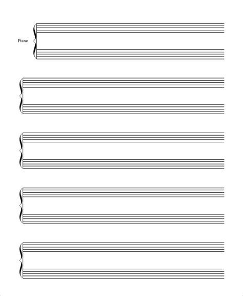 free blank sheet music printable pdfs
