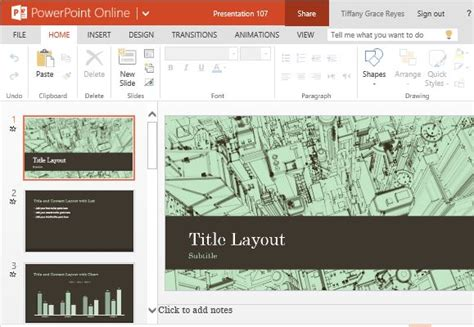 business office city sketch powerpoint template
