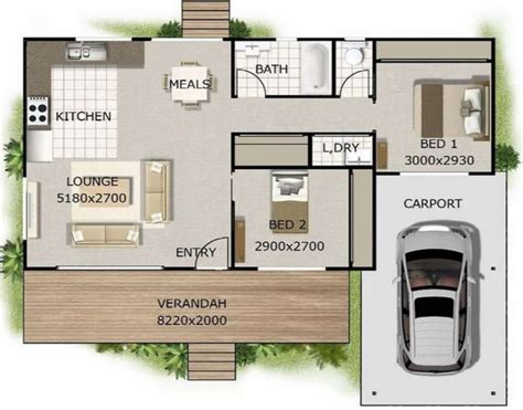 Casa Elevada Con Deck Frontal House Plans With Flats Attached
